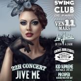 ELECTRO SWING CLUB DE PARIS – JIVE ME (Concert) – PROSPER – ADLN – KID SUPREME