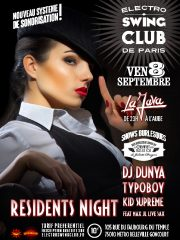 ELECTRO SWING CLUB RESIDENTS NIGHT II OPENING SEASON